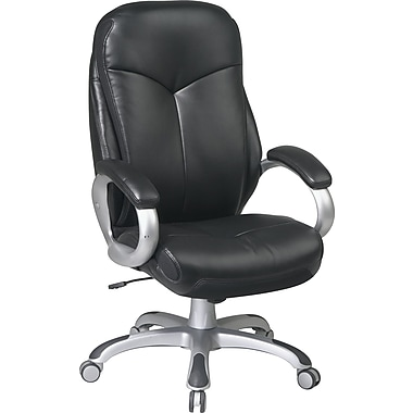 Office Star™ Work Smart Bonded Leather Executive 2 High-Back Chairs