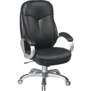 Office Star™ Work Smart Bonded Leather Executive 2 High-Back Chair, Black