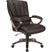 Office Star™ Work Smart Bonded Leather Executive 1 High-Back Chair Espresso
