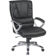 Office Star™ Work Smart Bonded Leather Executive 1 High-Back Chairs, Black