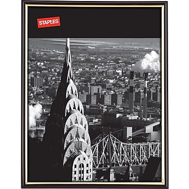 Staples® EZ Mount Plastic Frame, 8-1/2in. x 11in., Black