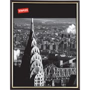 "Staples® EZ Mount Plastic Frame, 8-1/2"" x 11"", Black"