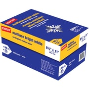 "Staples Multipurpose Paper, 8 1/2"" x 11"", Bright White, Case"