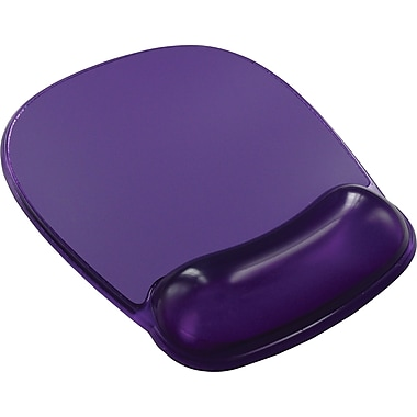 Staples® Mouse Pad with Wrist Rest, Purple Crystal