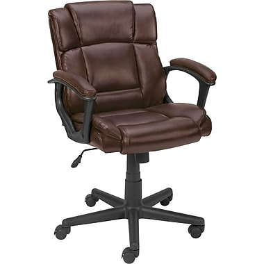 Staples® Montessa™ Luxura Managers Chair, Brown