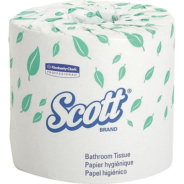Scott® 100% Recycled Premium Bath Tissue Rolls, 2-Ply, 80 Rolls/Case