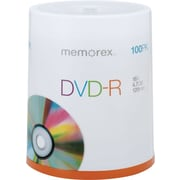Memorex 4.7GB DVD-R, 100/Pack