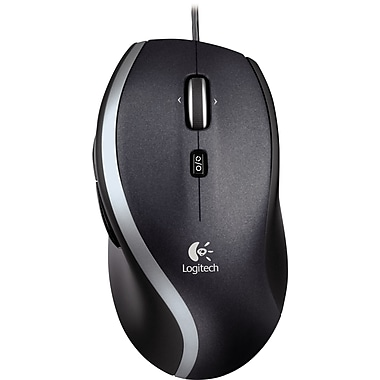 Logitech M500 USB optical Wired Laser Mouse, Black (910-001204)