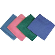 "Impact® Microfiber Glass Cloths, Blue Suede, 16""L x 16""W, 12/Pk"