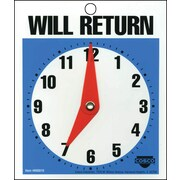Cosco® 098010 Will Return Later Sign, Blue