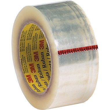 3M #371 Hot Melt Packaging Tape, 2in.x55 yds., Clear, 36/Case