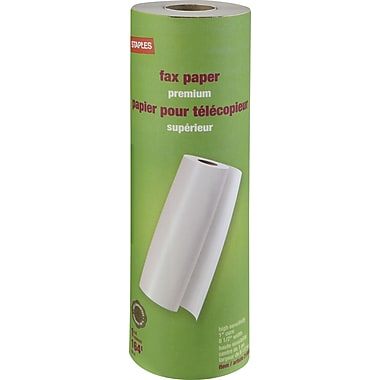 Staples® Thermal Fax Paper Rolls, 1