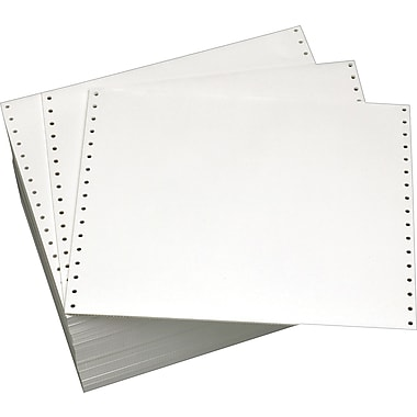 Staples® Blank White Computer Paper, Non-Perforated, 20 lb., 14 7/8in. x 11in., 2,700/Box