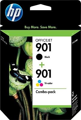 HP 901 Black and Tricolor Ink Cartridges CN069FN Combo 2 Pack