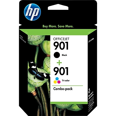 HP 901 Black and Tricolor Ink Cartridges (CN069FN), Combo 2/Pack