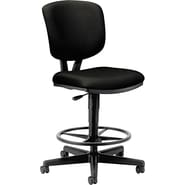 HON Volt Task/Drafting Stool, Black Fabric