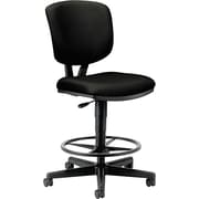 HON Volt Black Fabric Task/Drafting Stool