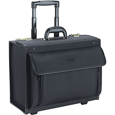 SOLO Rolling Catalog Laptop Case, Combo Lock, Black, 15.4in.
