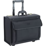 SOLO® Rolling Catalog Laptop Case, Combo Lock, Black, 15.4