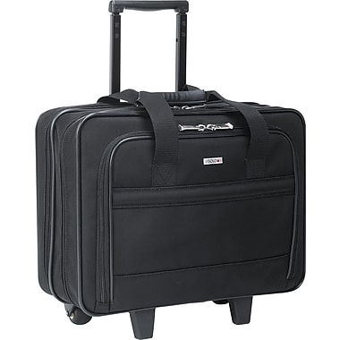 SOLO® Ballistic Poly Rolling Laptop Case, Black, 15.6in.
