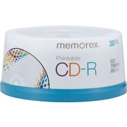 Memorex 4725 700MB Printable CD-R, Spindle, 30/Pack