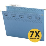 Smead TUFF® Hanging File Folders with Easy Slide™ Tabs, Letter, 3 Tab, Blue, 18/Box