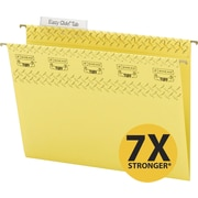 Smead TUFF® Hanging File Folders with Easy Slide™ Tabs, Letter, 3 Tab, Yellow, 18/Box