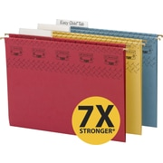 Smead TUFF® Hanging File Folders with Easy Slide™ Tabs, Letter, 3 Tab, Assorted, 15/Box