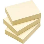 Staples® Stickies™ 1-3/8 x 1-7/8 Recycled Yellow Notes, 12/Pack
