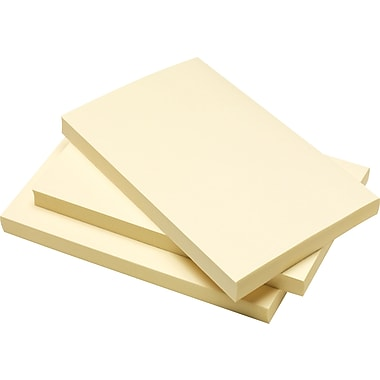 Staples® Stickies 3in. x 5in. Recycled Yellow Notes, 12/Pack