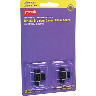 Staples® Calculator Ink Rollers, Black/Red, SRU-40T, 2-Pack