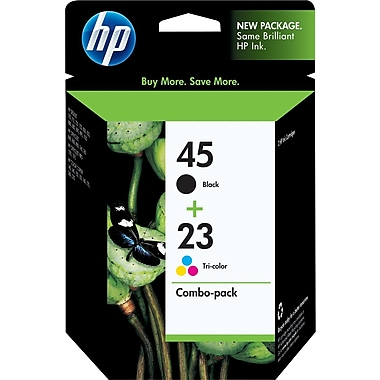 HP 45/23 Black and Tri-color Ink Cartridges (C8790BN), Combo 2/Pack