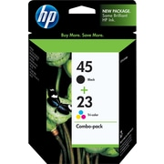 HP 45/23 Black and Tricolor Ink Cartridges (C8790BN), Combo 2/Pack
