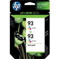 HP 93 Tricolor Ink Cartridges (CC581FN), Twin Pack