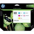 HP 02 C/M/Y/LC/LM Color Ink Cartridges (CC604FN), Combo 5/Pack