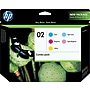 HP 02 Color Ink Cartridges (CC604FN), Combo 5/Pack