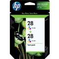 HP 28 Tricolor Ink Cartridges (CD995FN), Twin Pack