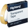 Highland™ Transparent Tape 5910 Refill, 1in. x 2,592in., 3in. Core, 1 Pack