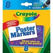 Crayola® 58-8173 Poster Marker, Chisel Tip, Assorted