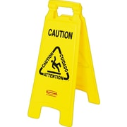 Rubbermaid® Floor Sign, Multilingual Message: Caution