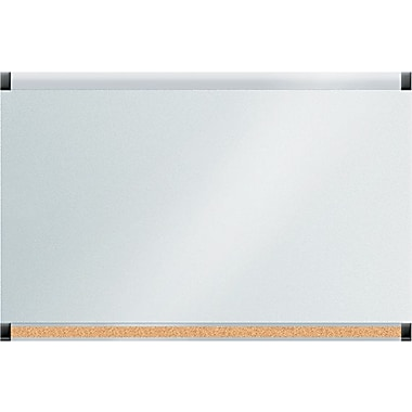 The Board Dudes™ GlassX Frosted Glass Dry-Erase Board with Bulletin Bar, 35in. x 23in.