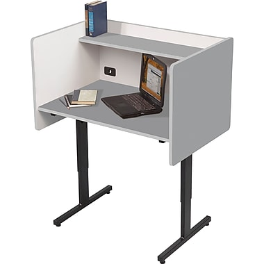 Balt Adjustable Height Study Carrel, Gray