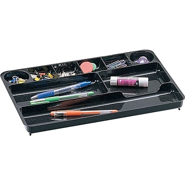Staples® Black Plastic Desk Collection, (Recycled) Drawer Organizer