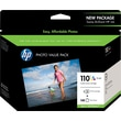 HP 110 Tricolor Ink Cartridge & 140 Sheets Photo Paper (Q8700BN), Value Pack