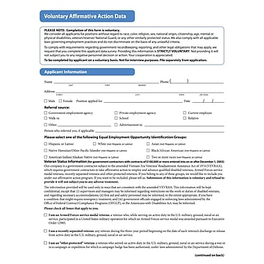 ComplyRight Affirmative Action Forms