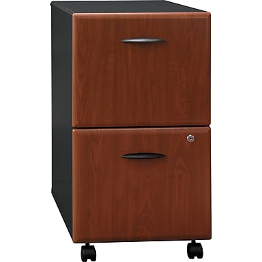 Bush Cubix 2-Drawer File Cabinet, Hansen Cherry/Galaxy, Pre-Assembled