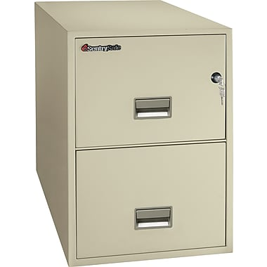 Sentry® 1–Hour Fire File, 2-Drawer, Legal, Fire, Water & Impact Resistant, Putty, Dock to Dock