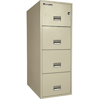 Sentry® 1-Hour Fire File,4-Drawer, Legal, Fire, Water & Impct Resistant, Putty, Premier Delivery