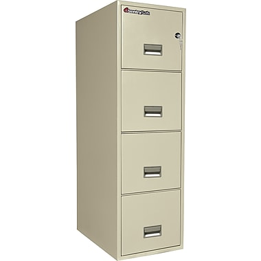 Sentry® 1-Hour Fire File,4-Drawer, Letter, Fire, Water & Impact Resistant, Putty, Premier Delivery