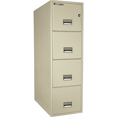 Sentry® 1-Hour Fire File, 4-Drawer, Letter, Fire, Water & Impact Resistant, Putty, Dock to Dock